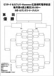 トーナメント表JPEG広島9ボールマンスリーHammer胡町電停前店