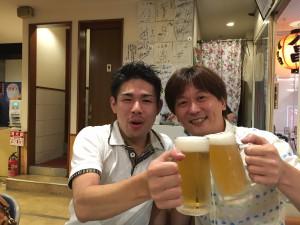 飯間プロチャレマお疲れビールビリヤード広島Hammer