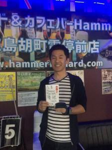 第15回広島Hammer9ボールマンスリー優勝今野さん20171007