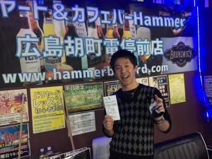 第18回ビリヤード広島Hammer月例準優勝今野さん