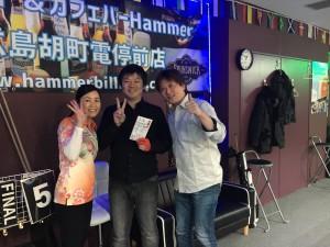 第20回2018年3月度広島Hammer優勝の玉登新也選手9ボールマンスリートーナメント集合写真