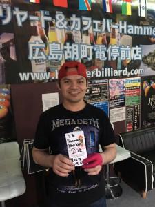 第35回準優勝アレナンテ選手ビリヤード広島Hammer9ボール月例