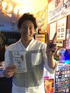 2016年8月度第3回ビリヤード広島9ボールマンスリー優勝大塚さん
